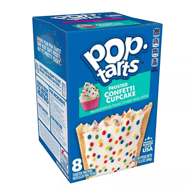 Kellog's Pop Tarts - Frosted Confetti Cupcake - 8 Pack 384g • 9.50£