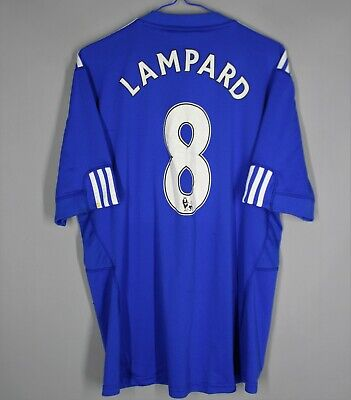 Chelsea 2009/2010 Home Football Shirt Jersey #8 Lampard Adidas Size L Adult • 44.99£