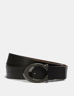 $99.85 • Buy New Coach Signature Buckle Cut-To-Size Reversible Belt, 38mm