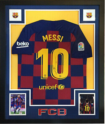AU1937.47 • Buy Lionel Messi Signed 2018-19 Nike FC Barcelona Jersey Framed Autograph Icons COA