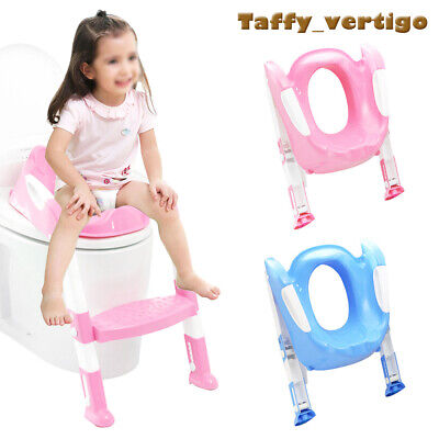 Foldable Baby Potty Infant Kids Toilet Chair Portable Training Seat With Ladder • 9.99£