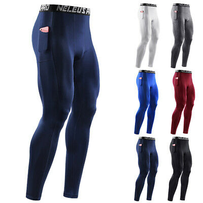 Mens Compression Under Skin Base Layer Pants Leggings Gym Sport Running Trousers • 12.99£