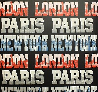Arthouse Typography Cities Red White Blue Black Capital Feature Text Wallpaper • 6.49£