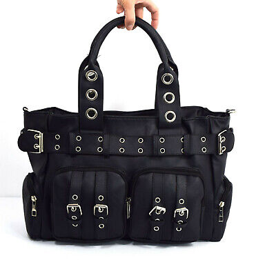 £35.79 • Buy Poizen Industries EVE Bag Gothic Punk Emo Black Gothic Bag With Pockets