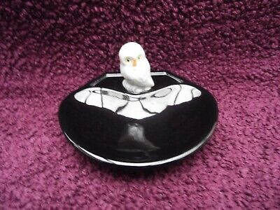 Wade Whimsies Whimtray / Dish ( Black ) With Whimsieland Owl Excellent Condition • 24.99£