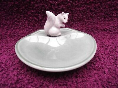 Wade Whimsies Whimtray / Dish (Green)  Whimsieland Squirrel Excellent Condition • 24.99£