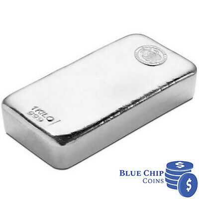 AU1399.95 • Buy The Perth Mint 1kg Silver Cast Bar