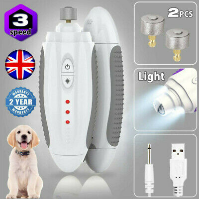 Electric Paws Nail Trimmer Grinder Grooming Tool Rechargeable Pet Dog Clipper UK • 9.99£