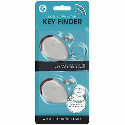 Sonic Whistle Key Finder - 2 Pack Flashing Lost Beeping Locating Remote Chain  • 2.79£