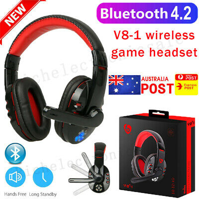 AU31.88 • Buy Bluetooth Wireless Gaming Headset Headphone With Mic For PC Laptop Computer AU🥇
