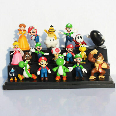 18 Pcs Super Mario Mini Figure Cute Toys Doll Action Figures Collection Gift NEW • 10.69£