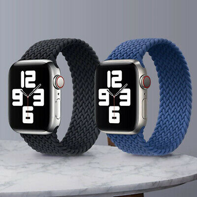 AU12.99 • Buy Braided Solo Loop Strap Band For Apple Watch Series 6 SE 5 4 3 2 1 38 40 42 44MM