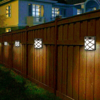 4pack Led Solar Fence & Wall Lights Garden Security Outdoor Post Step Uk Stock • 9.99£