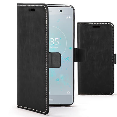 AU7.67 • Buy Sony Xperia XZ2 Premium Case Cover By FC® - PU Leather Premium Flip Wallet Stand
