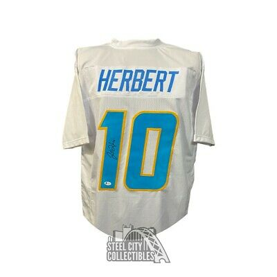 $ CDN318.34 • Buy Justin Herbert Autographed Los Angeles Chargers Custom White Football Jersey BAS