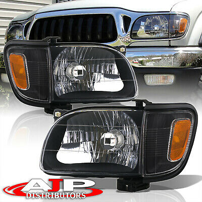 $84.99 • Buy Black Replacement Head Lights + Signal Corner Lamps For 2001-2004 Toyota Tacoma
