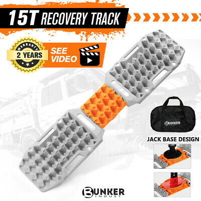 AU109.95 • Buy BUNKER INDUST Recovery Tracks Sand Track 15T 4WD Car Accessories 4x4 Grey