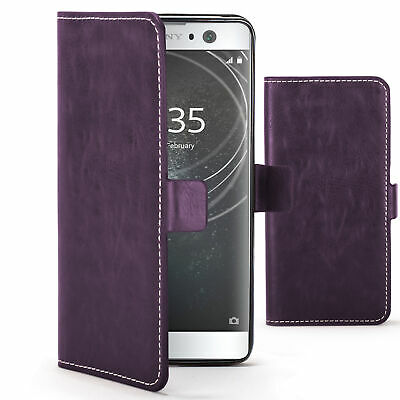 $ CDN7.92 • Buy Sony Xperia XA2 Case Cover By FC - PU Leather Wallet Stand - Purple + Stylus
