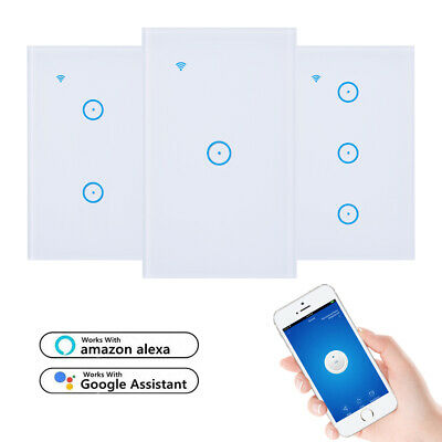 AU17.43 • Buy Smart WiFi Light Touch Switch Wall Compatible Alexa Google IOS Android Control