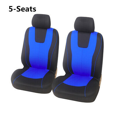 $31.40 • Buy Polyester Car Seat Covers Front & Rear Full Set Fit For 5-Seats Car SUV Truck