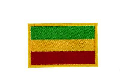 Patch Embroidered Badge Flag Backpack Ethiopia Rasta Thermoadhesive • 2.60£