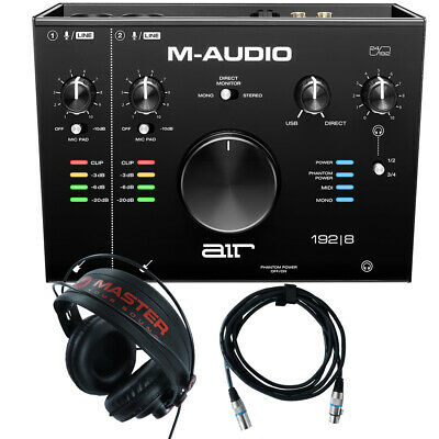 $234 • Buy Home Recording M-Audio Air 192-8 Pro-Tools First + Mic Cable + Headphones