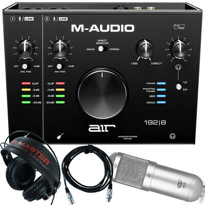 $249 • Buy Home Recording M-Audio Air 192-8 Pro-Tools First + Mic + Cable + Headphones