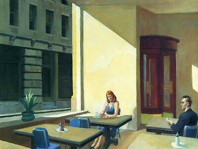 £9.99 • Buy EDWARD HOPPER Sunlights In Cafe  Canvas Print 12 X16 Inch Stretched Over Frame