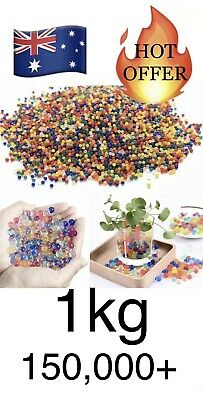 AU47.90 • Buy 1 Kg Orbeez Mixed Colours Crystal Water Plant Beads Bio Hydro Gel Ball Garden