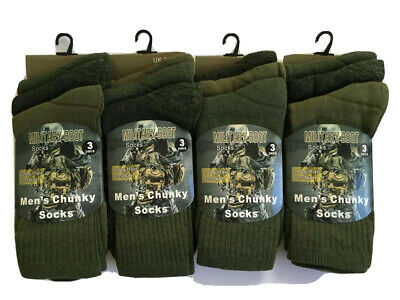 £9.94 • Buy 6 Pairs Mens Military Socks Army Thermal Hiking Boots Walking Combat Warm  6-11