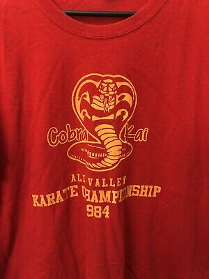 $6.99 • Buy Cobra Kai All Valley Karate Championship 1984 Red T-shirt XL