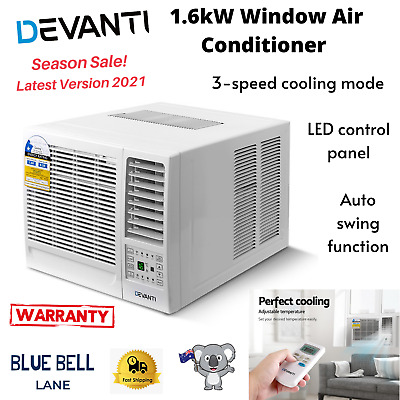 AU350.45 • Buy Devanti 1.6kW Window Air Conditioner Cooler Wall Box Refrigerated