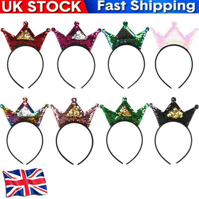 Sequins Headband Double-sided Crown Princess Children's Dance Party Accessories • 3.65£