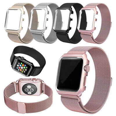 $ CDN9.05 • Buy For Apple Watch IWatch Series 6 5 4 3 44/40/42/38mm Replacement Band Strap+Case