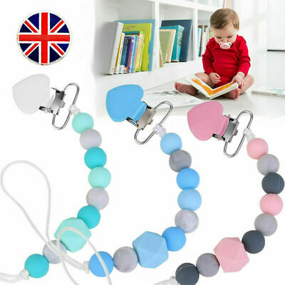 Dummy Clip Baby Soother Clips Teething Baby Teether Chain Holder Pacifier Straps • 2.89£