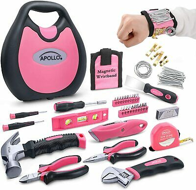 Apollo 72 Piece Home DIY Ladies Pink Tool Kit Set In A Handbag Case. All Purpose • 34.99£