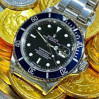 $ CDN10820.02 • Buy Rolex 16800 Submariner Tropic Black Dial Stainless Steel Watch 1986 Vintage