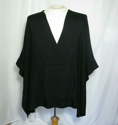 $44.95 • Buy Marla Wynne Women M/L Black Lagenlook Pullover Relaxed Sweater Top Blouse NWT