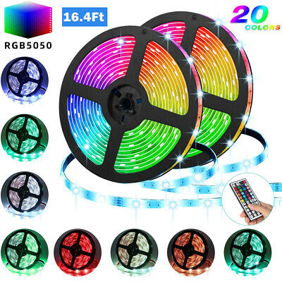 $9.99 • Buy LED Strip Lights TV Back Light 5050 RGB Colour Changing With 44Key Remote 1-5M