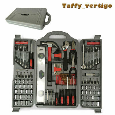 127PC Essential Tool Kit Set-Socket Drill Bit Hex Pliers Screwdriver Allen Key • 24.89£