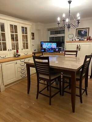 Stone Bar Height Table Including Eight Chairs • 275£