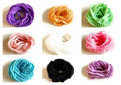 Lady-Muck1 Quality (10mm) Mini Pom Pom Bobble Trim Fringe 3 Pack Sizes UK SELLER • 1.95£