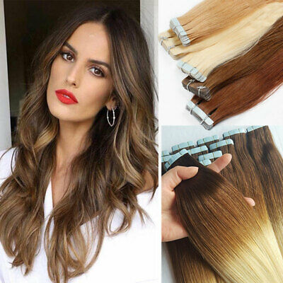 £20.56 • Buy CLEARANCE Russian Tape In 100% Remy Human Hair Extensions Skin Weft UK Stock LK9