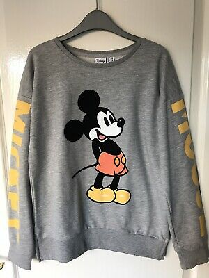 £4.70 • Buy Women's Disney Mickey Mouse Grey Sweatshirt Size 6 IMMACULATE CONDITION