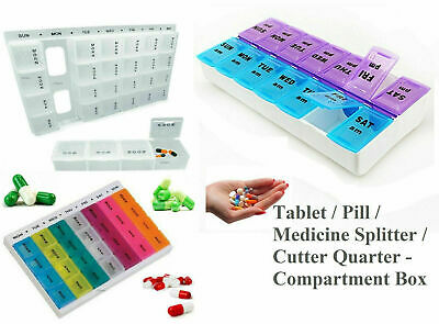 7 Day Pill Box Medicine Tablet Dispenser Organiser Weekly Storage Weekly Daily • 2.49£