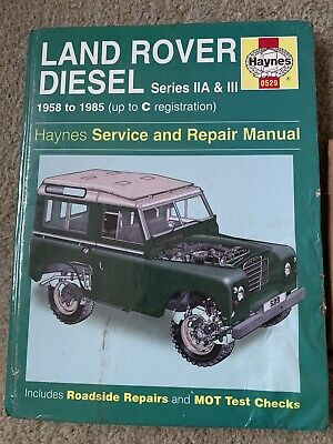 Haynes Land Rover Diesel Series IIA & III 1958-1985 Service And Repair Manual • 10£