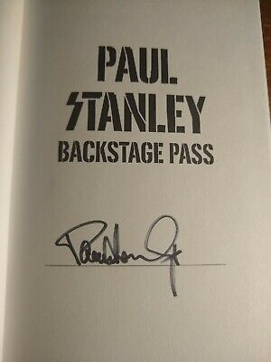 Signed Paul Stanley Backstage Pass Book KISS Gene Simmons Ace Frehley Peter Cris • 44£