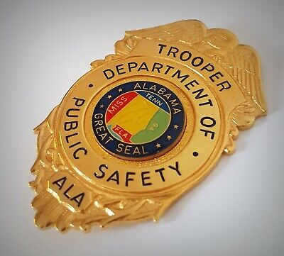 £18.99 • Buy Obsolate Historical Usa Police Badge ... Trooper / Great Seal ALABAMA 1935