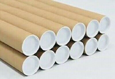 $43.46 • Buy 50 - 2  X 18  Cardboard Shipping Mailing Tube Tubes Cores With End Caps