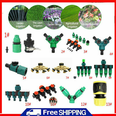 Quick-Connect Tap Garden Irrigation Hose Pipe Splitter Kit Adapter Water Fa D27 • 5.41£